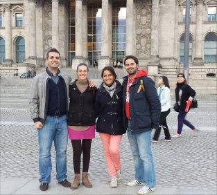 Antes de la visita al Bundestag